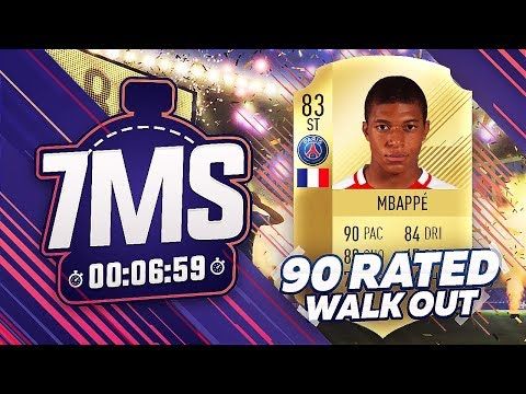 😱 FIFA 18 7 MINUTE SQUAD BUILDER!!! *90 RATED WALKOUT PULL* KYLIAN MBAPPE!!