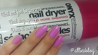 Nail art for beginners | Onyx Nail drying spray | Does it work?