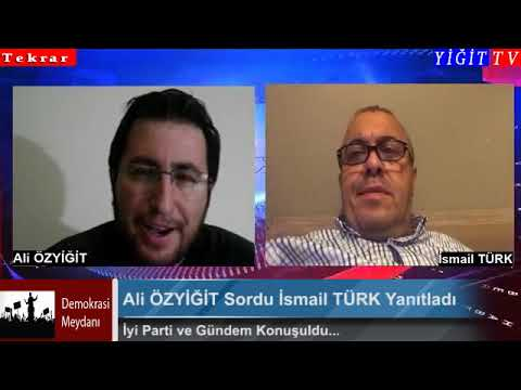 Demokrasi Medyanı programı konuk İsmail Türk Bol bol paylaşalım ! Konu İyi Parti tekrar
