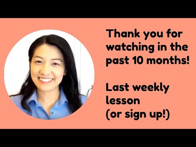 Hanako's Japanese Lesson (40) - Sign up for the Lesson from (41)!