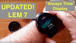LEMFO LEM7 (Updated) 4G Cell Android 7.1.1 Smartwatch with Always Time Display: Unboxing & 1st Look