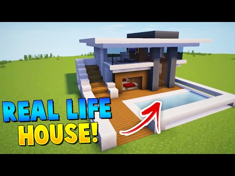 BUILDING OUR REAL LIFE HOUSE IN MINECRAFT! - Denis, Alex, Sketch & Sub