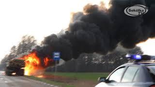 NA SYGNALE: Pożar ciągnika w Leszczanach / Leszczany 2018