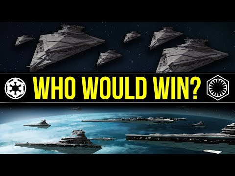 Snoke's Fleet (The Last Jedi) vs The Imperial Fleet at Endor | Star Wars: Who Would Win
