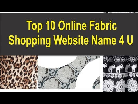 10 Online Fabric / Cloths Shoping Website Name ऑनलाइन खरीदारी करें | Buy Cloth | Dress Raw Materials
