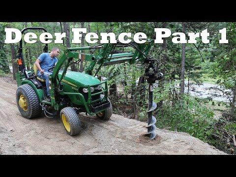 8ft Metal Deer Fence Install Part 1