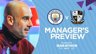PRESS CONFERENCE | Pep Guardiola | Man City v Port Vale