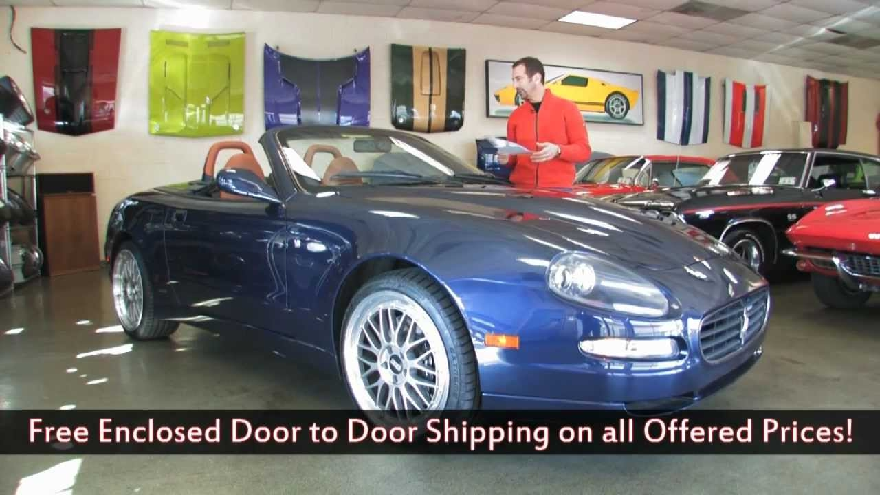 2005 maserati spyder cambiocorsa for sale with test drive. Black Bedroom Furniture Sets. Home Design Ideas