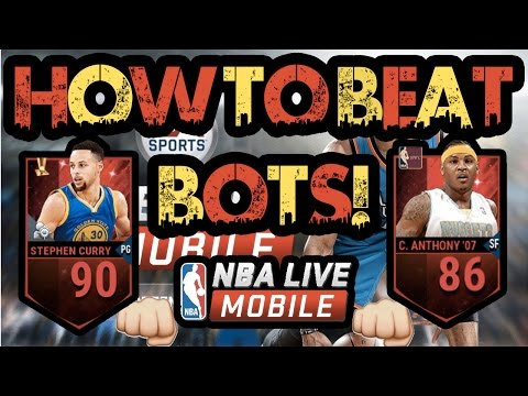 BEST ADVICE FOR BEATING BOTS! NBA LIVE MOBILE! BECOME A SNIPING GOD!
