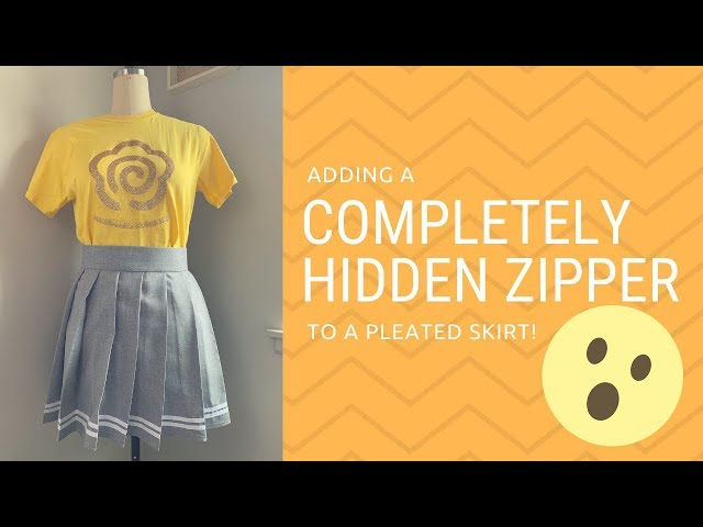 ☆[Tutorial] Adding a Completely Hidden Zipper to a Pleated Skirt!?!☆