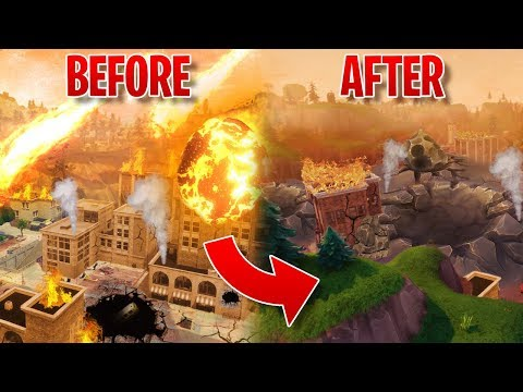 GOODBYE TILTED TOWERS 😞 | FORTNITE Tilted Towers METEOR STRIKE HAPPENING NOW!!
