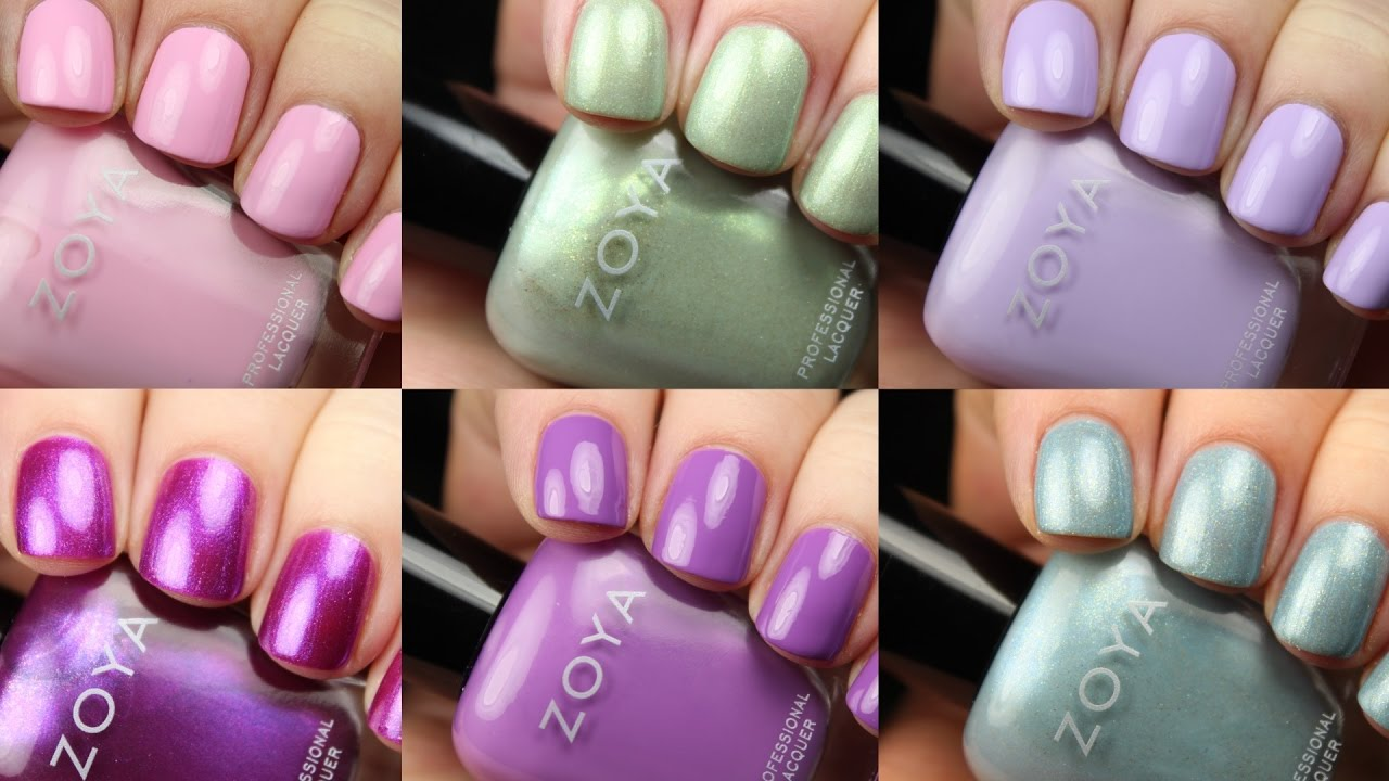 Zoya charming spring 2017 live application review youtube zoya charming spring 2017 live application review reheart Choice Image