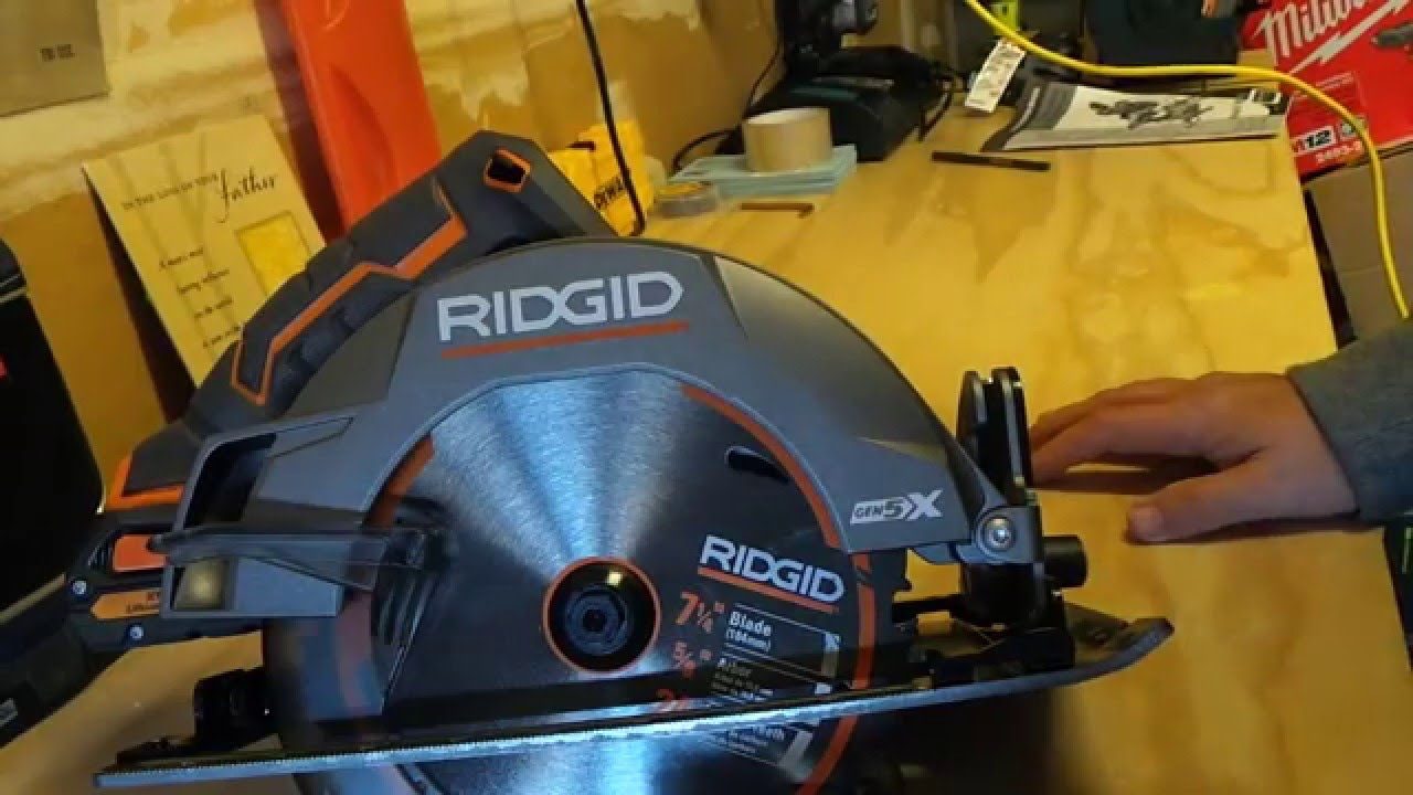 Ridgid 18v gen5x 7 14 circular saw first look youtube ridgid 18v gen5x 7 14 circular saw first look keyboard keysfo Image collections