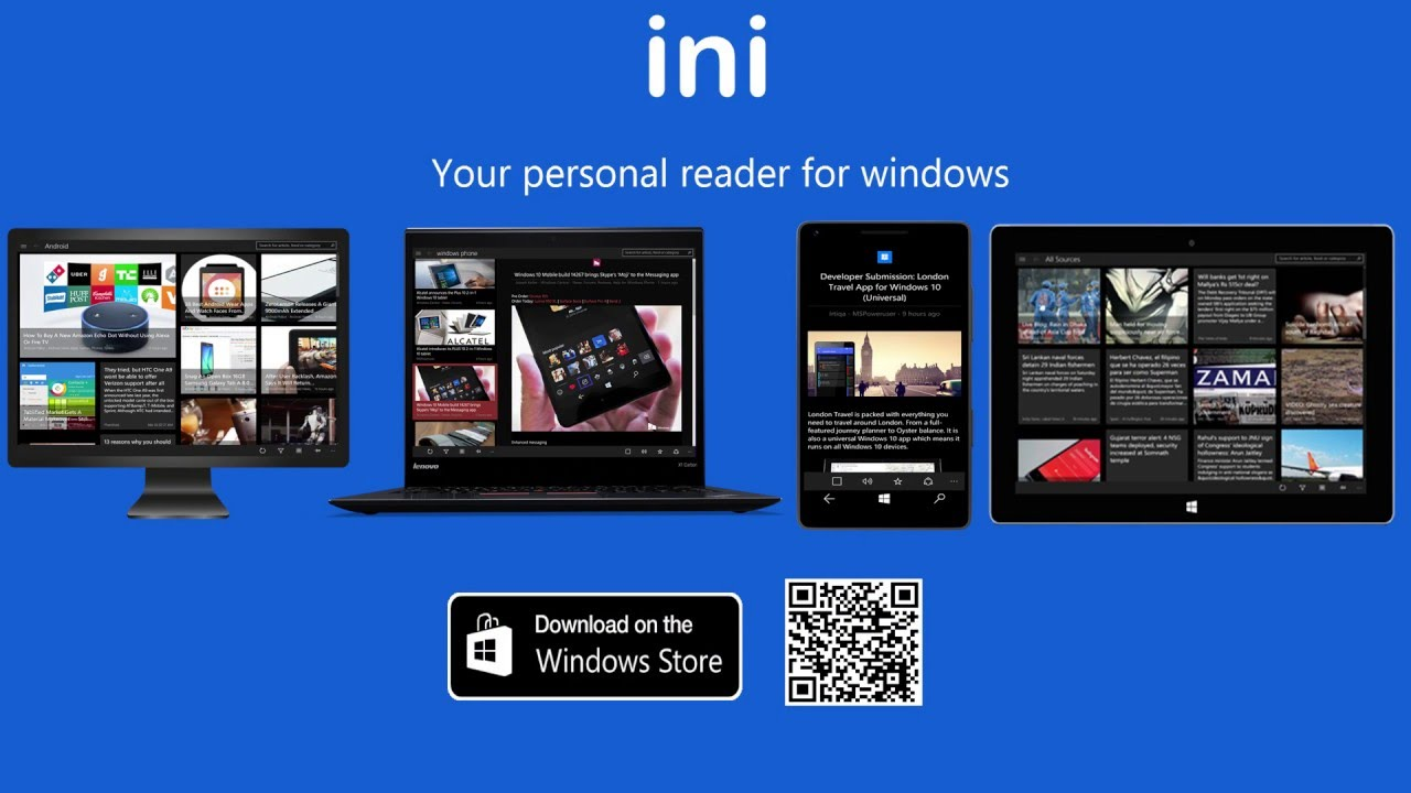 Read Aloud feature in ini Reader (Universal Windows Application for Windows  10 devices)