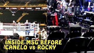 Inside MSG before Canelo Alvarez vs Rocky Fielding fights on DAZN start
