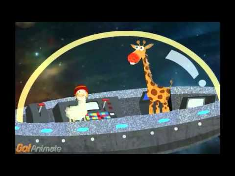 Cartoon Animals In Nasa Spaceship