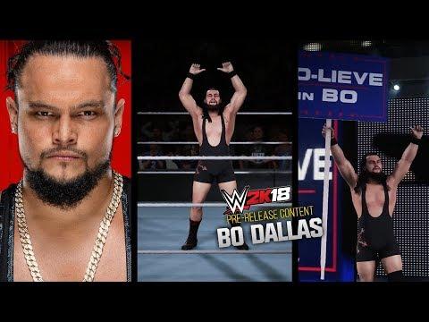 WWE 2K18 PRE-RELEASE   BO DALLAS ENTRANCE