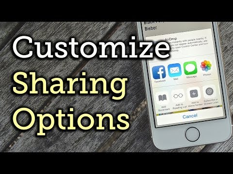 Customize the Share Sheet Options on Your iPhone - iOS 8 [How-To]