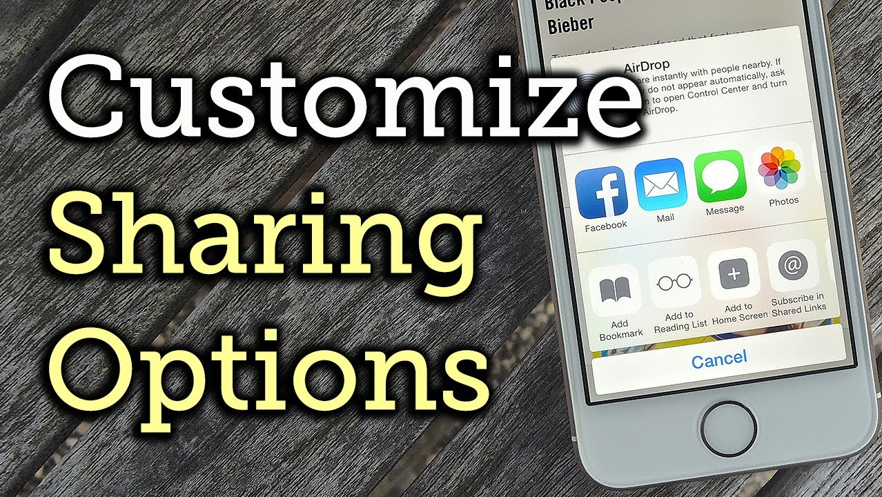 Customize The Share Sheet Options On Your Iphone  Ios 8 [howto]