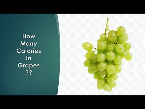 how many calories are in grapes