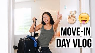 COLLEGE MOVE-IN DAY VLOG 2018 // moving in and getting settled!!