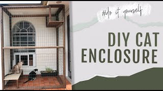 DIY Cat Enclosure | Outdoor Cat House Tree with Perch Shelves *EASY TO MAKE*