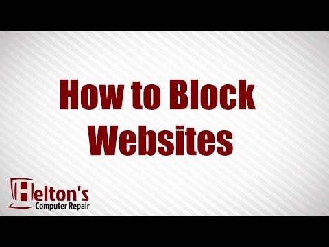 How To Block Websites - XP / Vista / 7