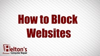 How To Block Websites - XP / Vista / 7
