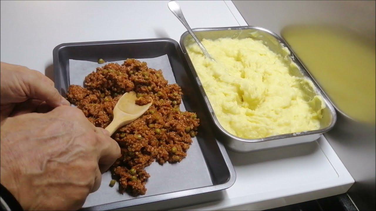 Pastel de carne tipo Irlandes con pure de patatas Shepherd´s pie