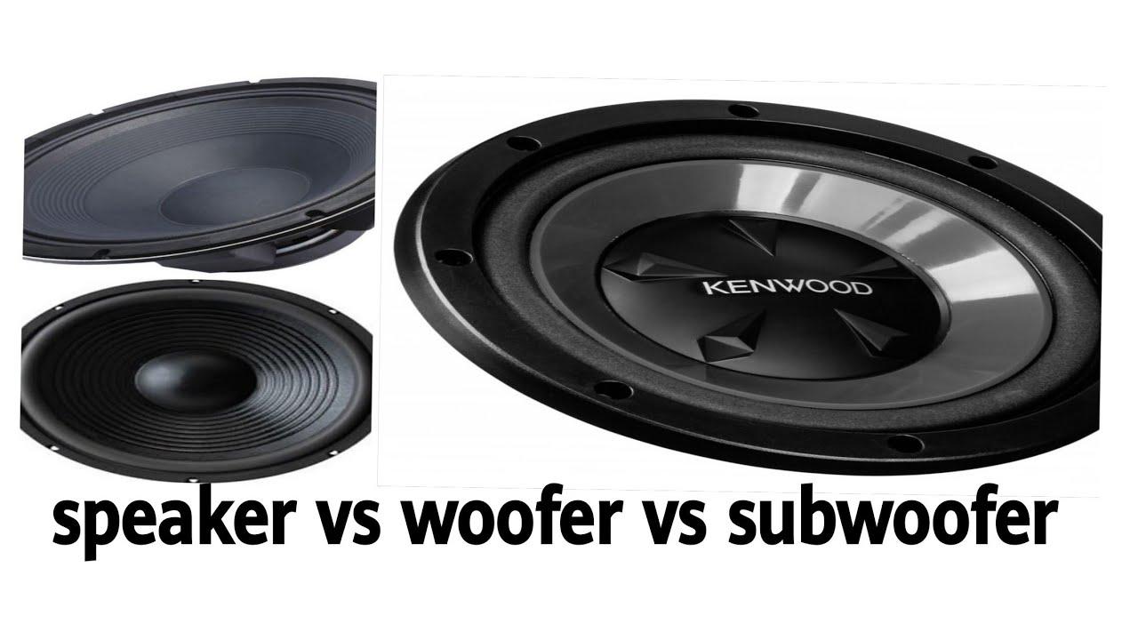 Speaker vs woofer  woofer vs subwoofer  speaker vs subwoofer  Amplifier  Connection