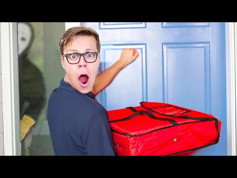 Taking Over Safe House in Pizza Boy Disguise! (Game Master Clues in Real Life)