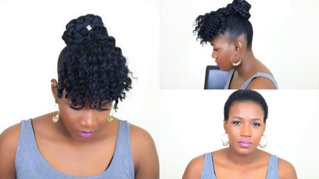 Faux Crochet Bangs On Short Natural Hair No Cornrows No Braids