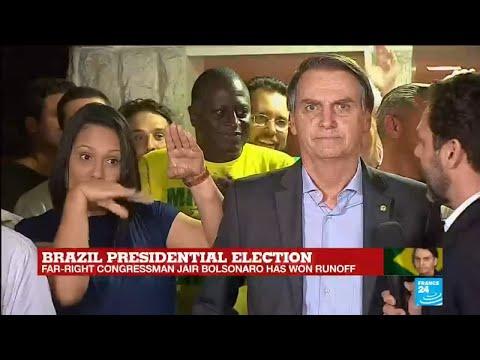 Brazil's newly elected president Jair Bolsonaro victory speech