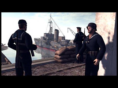 KRIEGSMARINE NAVAL BASE SIEGE! Ampihbious Ranger Assault - Men of War RobZ Realism Mod Gameplay