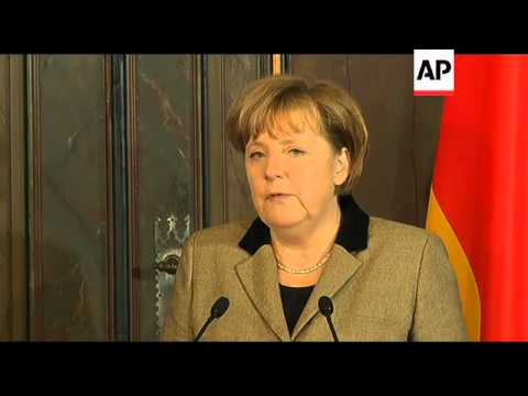 Angela Merkel meets head of Eurogroup Jean Claude Juncker