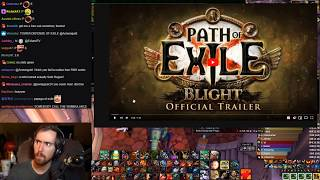 Asmongoldand39s Reaction To Path Of Exile Blight Official Trailer And Developer Commentary