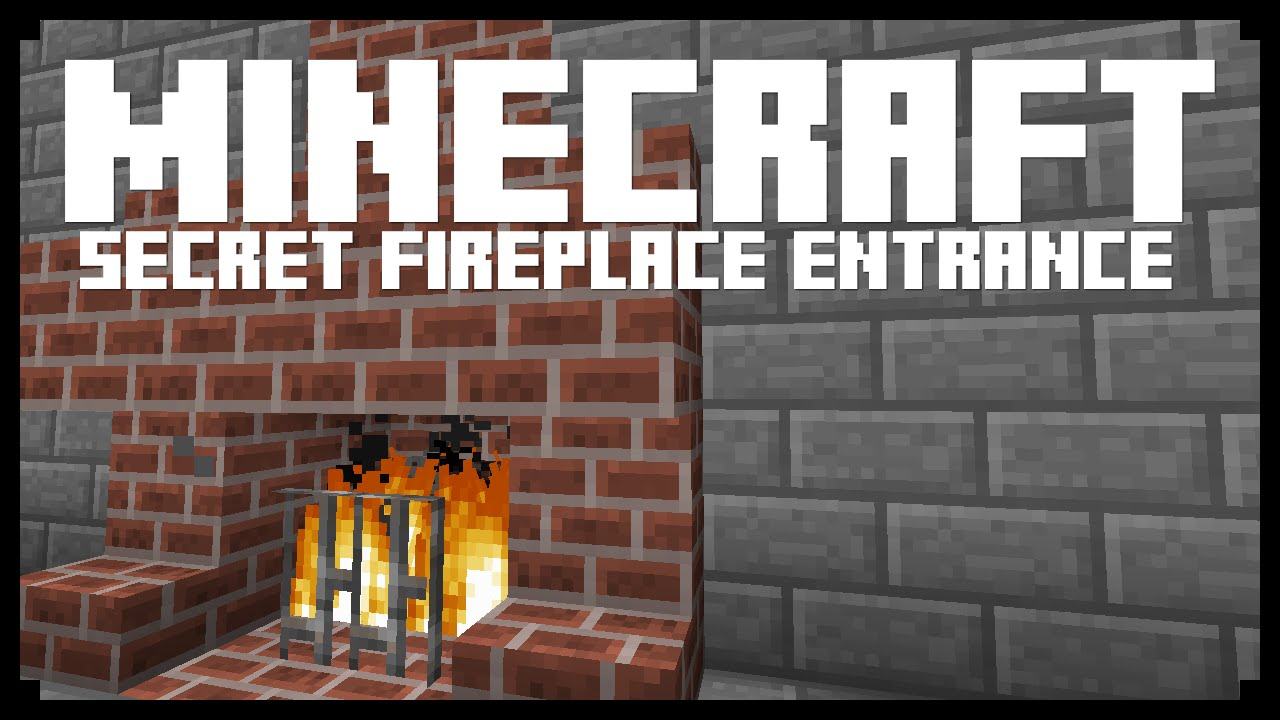 Minecraft: FIREPLACE HIDDEN ENTRANCE! (Redstone Tutorial) - YouTube