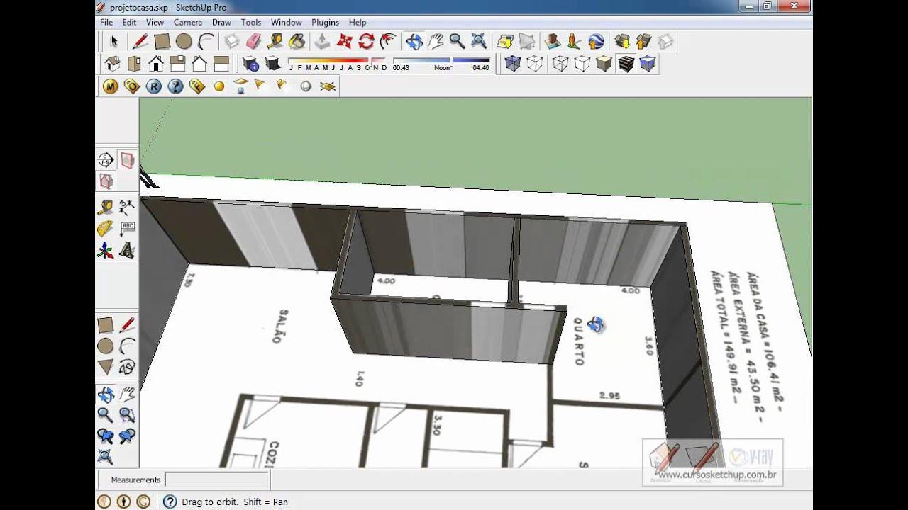 Curso Sketchup 8 Pro Online Aula Gr Tis Aula15 Planta