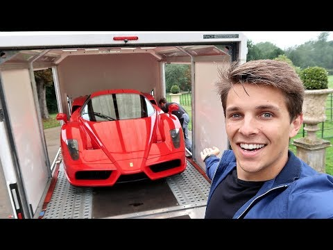 TAKING DELIVERY OF HIS £2,000,000 FERRARI ENZO!!
