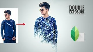 Snapseed Blue Double Exposure Editing | New Snapseed Editing Tricks | Snapseed Photo Editing