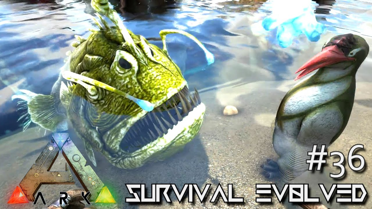 Ark survival evolved new update taming kairuku angler for Angler fish ark