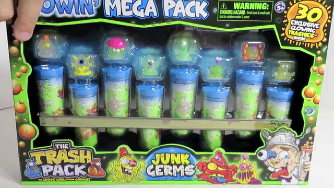 The Trash Pack Glowin Mega Pack Junk Germs Exclusive Collection