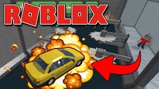 Roblox - DESTRUINDO MEU CARRO ( Car Crushers 2 Beta )