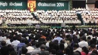 RV graduation, La Salle Green Hills, Receiving medal for football, March 16, 2014