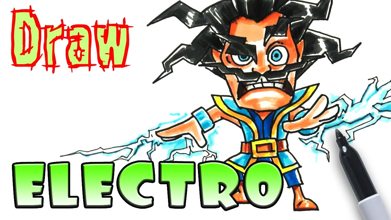 how to draw electro  clash royale  coloring pages  youtube