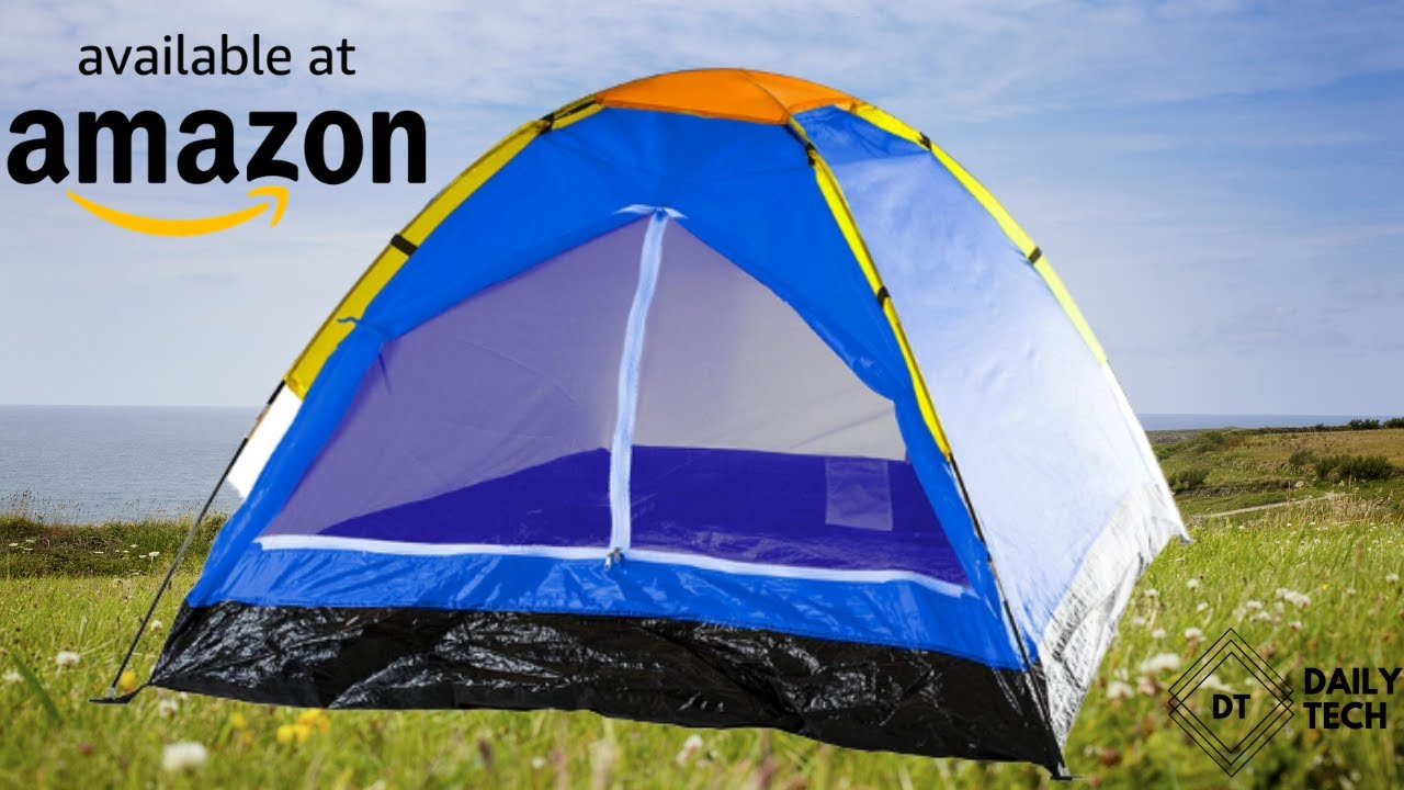 Camping Gear for Hiking, Backpacking, and Traveling Dome Tents for Camping with Carry Bag by Wakeman Outdoors 2-Person Tent - BLUE Trademark Global 80-170T