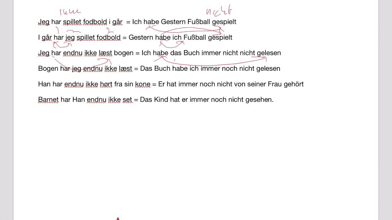 Tyske helsætninger med 2 eller flere verber