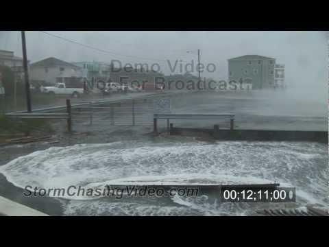 Hurricane Irene stock video footage, Virginia Beach, VA