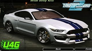 Ford Mustang GT 350 R Need For Speed Underground 2 Mod Spotlight U4G