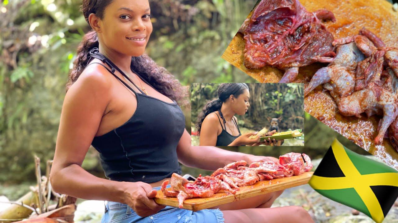 Fresh meat from farmer girl Jess farm riverside cooking *must watch*